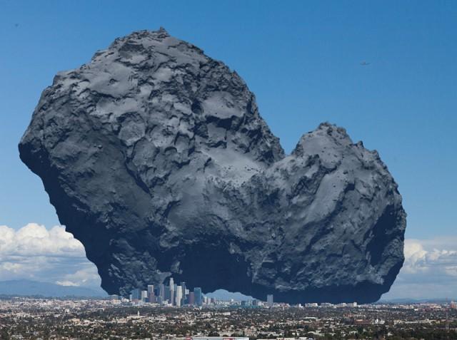 Комета Чурюмова - Герасименко и Лос-Анджелес
