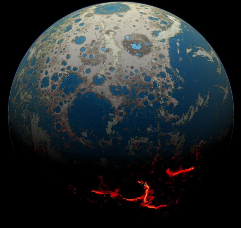 Земля 4 миллиарда лет назад.