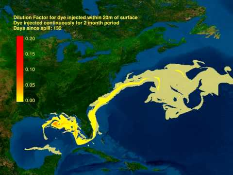 Прогноз последствий аварии на нефтяной платформе Deepwater Horizon