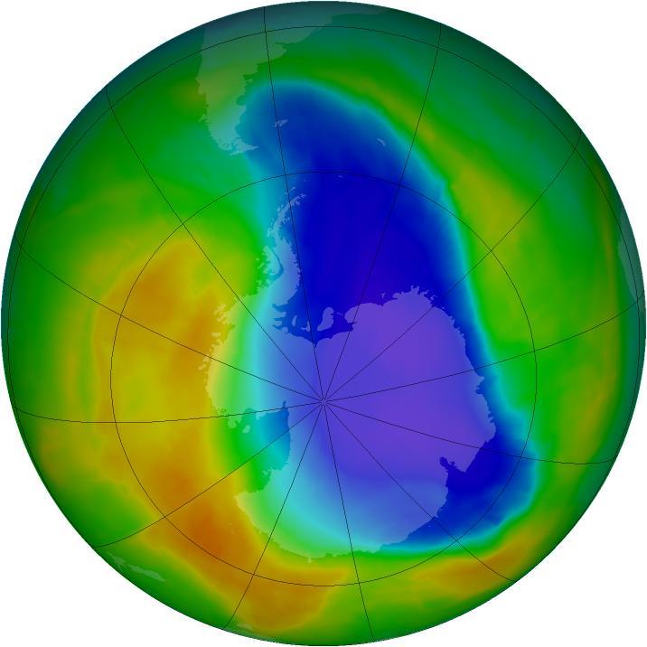 Озоновая дыра над Антарктидой