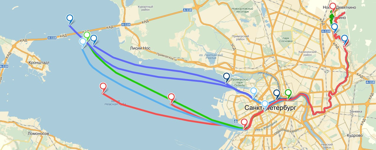 Путешествие фекалий из Невы в Финский залив