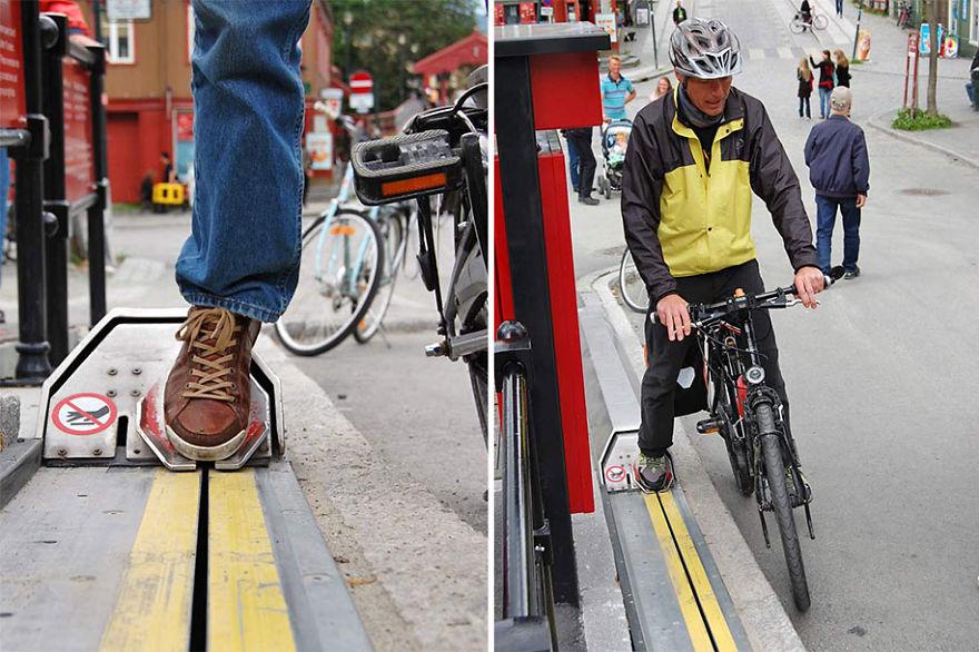 Эскалатор для велосипедистов
