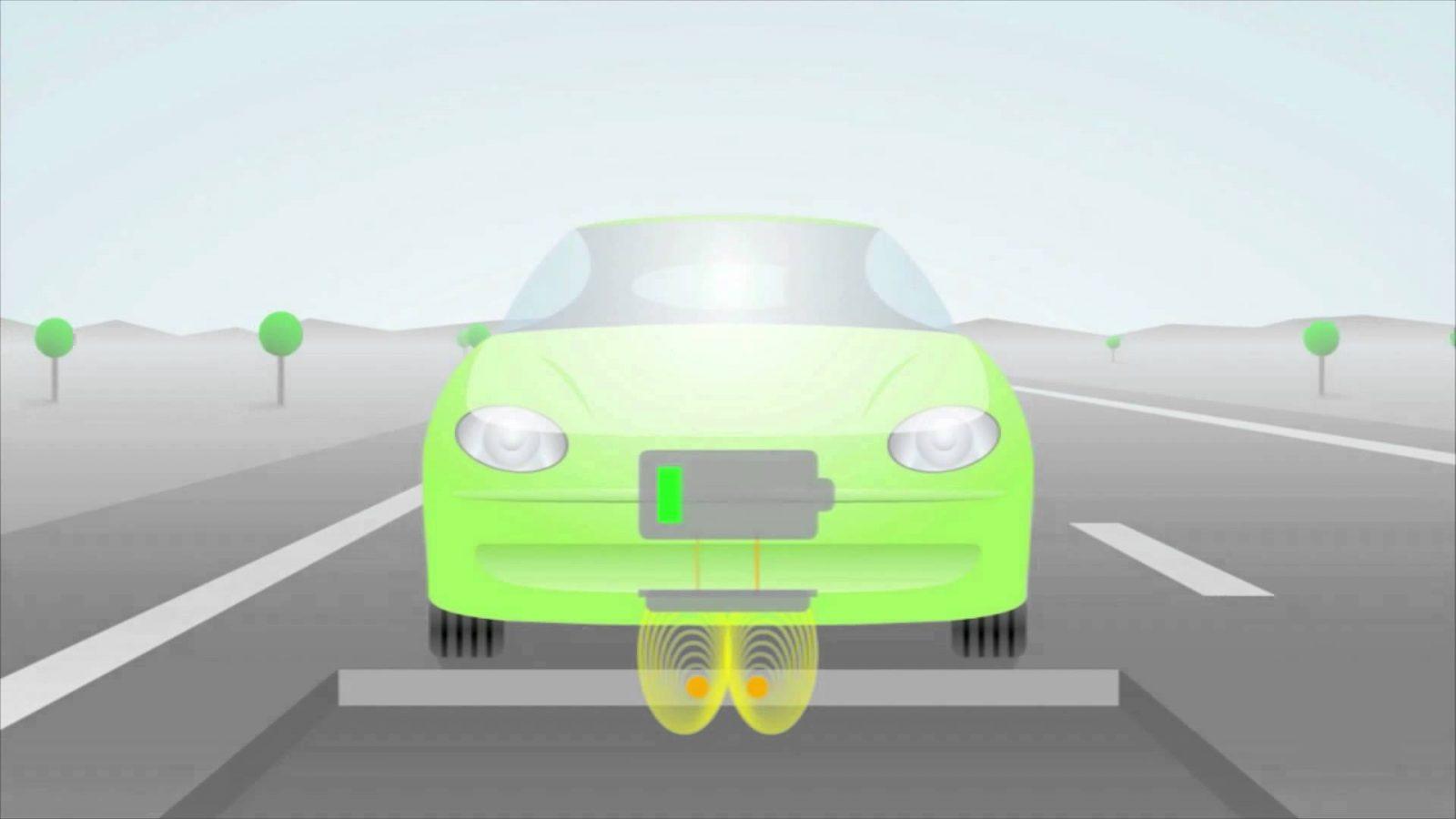Бесконтактный способ зарядки электромобилей