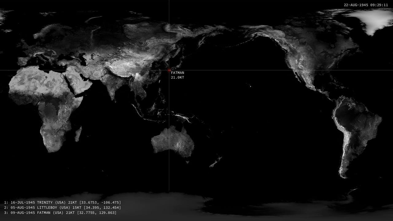 Визуализация использования ядерного оружия