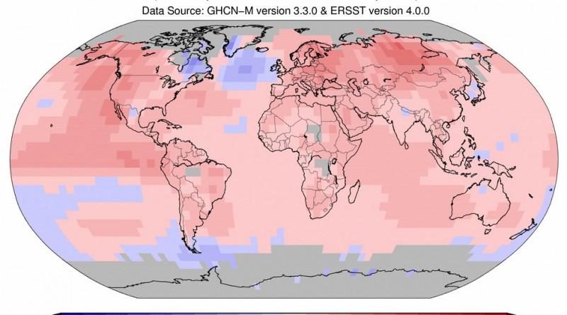 2015 год - самый тёплый за всю историю метеонаблюдений