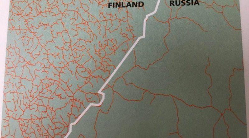 Плотность дорожной сети в России и Финляндии