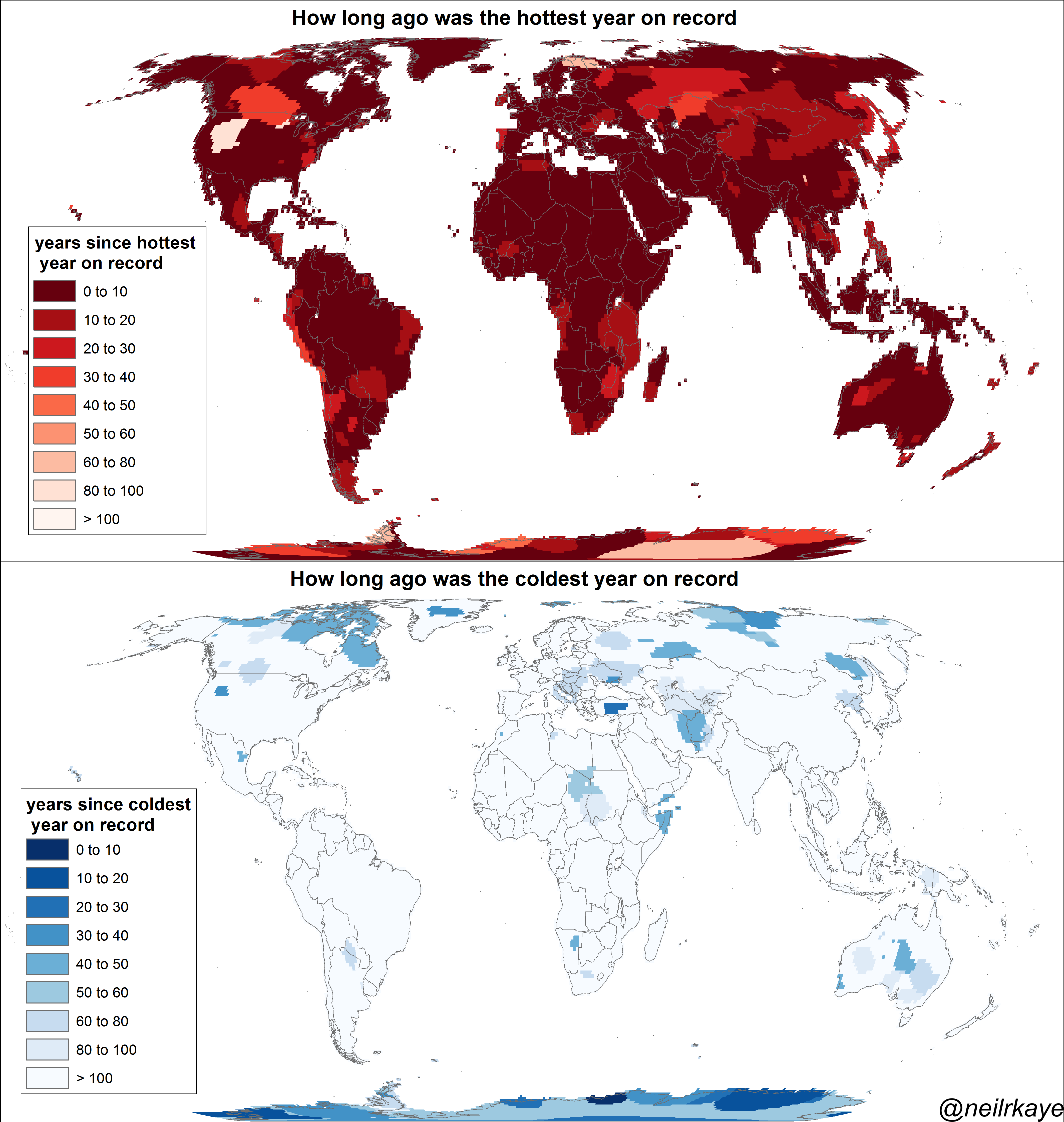 Температурные рекорды на Земле